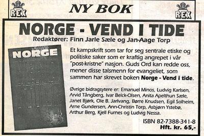 Kampskriftet «Norge - vend i tide» presentert