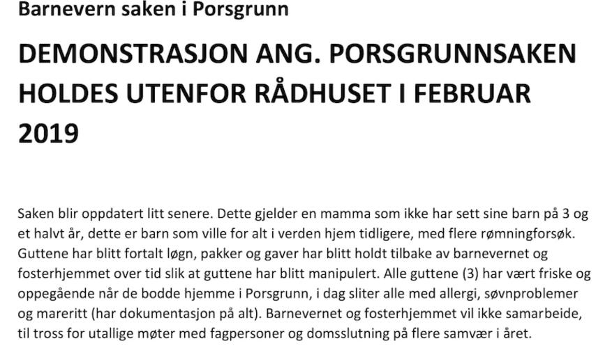 Sabrin Dahlskås fra Porsgrunn ble fratatt sine tre gutter av barnevernet - Men avisen Varden vil ikke skrive om saken!