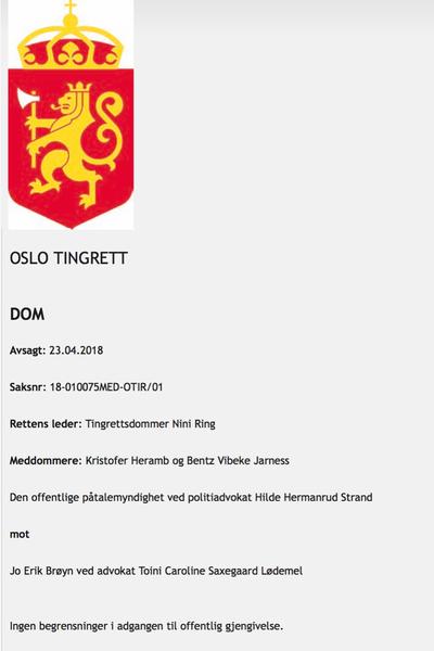 KKN anklages av Brøyns advokat for å ha offentliggjort hans navn