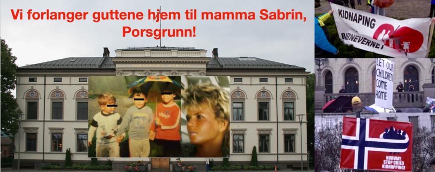Vi inviterer til folkemøte på Rådhustrappa i Porsgrunn: «Gutta skal hjem til mamma Sabrin!»
