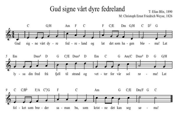 KKNs hymne: «Gud signe vårt dyre fedreland»