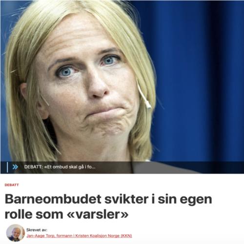 Torp i Dagen: Barneombudet svikter i sin egen rolle som «varsler»
